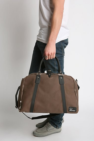 Fred Perry Waxed Canvas Day Bag - The Momentum