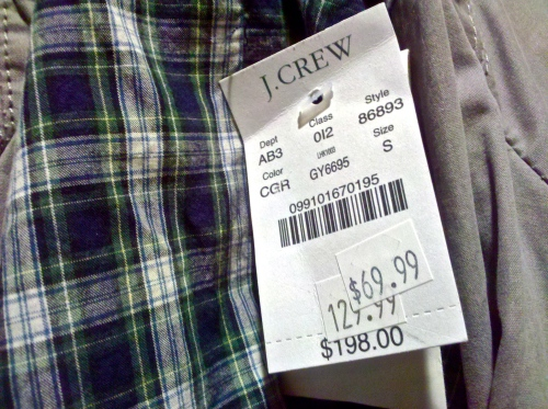 JCrew Sale tag